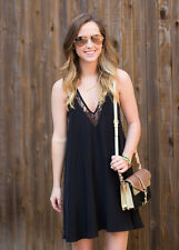 LOVERS + FRIENDS Hula Baby Doll Dress / Black  SIZE S  **SPECIAL FREE SHIPPING**