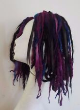 Wool Dreads short hair fall black burgandy festival goth kawaii harajuku cosplay
