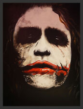 FRAMED Why So Serious by Ed Capeau 16x12 The Joker Print Poster Wall Decor