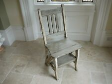 Library step chair solid mahogany Antique grey step chair solid wood folding