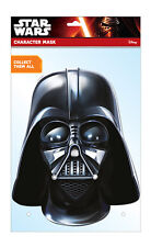 Darth Vader Star Wars Oficial 2D Careta De Cartón Fiesta Disfraz Empire