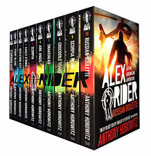 Alex Rider Collection 10 Books Set Anthony Horowitz Scorpia Rising, Stormbreaker