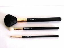 "MAC ""Ellie Goulding"" Set Of 3 Makeup Brushes, Rose Gold Ferrules, 129, 217, 209"