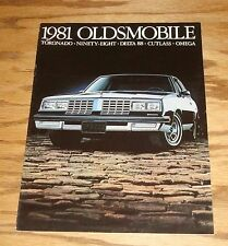 Original 1981 Oldsmobile Full Line Sales Brochure 81 Toronado Cutlass Delta