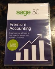 Sage Software Sage 50 Premium Accounting 2017 3-User Disk, Brand New, Sealed