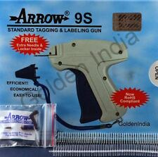 Arrow 9S Tag Gun Garment Label Price Tag Machine + 1000 Barbs + 1 Needle.