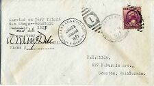 1937 First US Navy Mass Flight San Diego, CA-Pearl Harbor, HI TO#1276, autograph