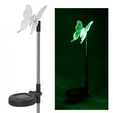 Pack of 2 Solar LED Color-Changing Butterfly Garden Stake Light Lawn Decoration