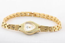 NELSONIC DIAMOND GOLDTONED QUARTZ HEART FACE SHAPPED NEW BATTERY WRISTWATCH 6066