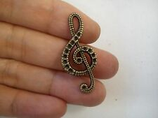 10 music note charm pendant vintage bronze antique style wholesale craft