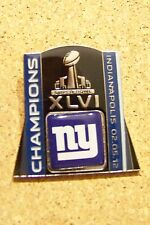 2012 Super Bowl 46 XLVI metal magnet NY New York Giants Champions SB tilt logo