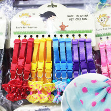 12PCS/Lot Small Pet Collar Cat Dog Collars Xmas Gift Cute Necklace Wholesale