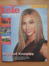 BEYONCE KNOWLES on front cover Polish Magazine TELE MAGAZYN 5/2015