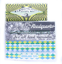 SCOTTISH HIGHLAND TIPS PAPERS KINGSIZE VARIETY 3 PACK - COSMIC HEADQUARTERS DD