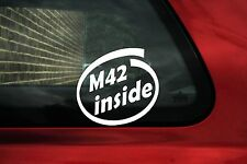 2x M42 inside sticker -  for Bmw e30 318is /e36 318is 3-series