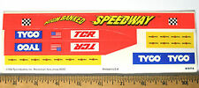 TYCO TCR Slot less Car Total Control Race High Bank Curve Track STICKER SHEET A+