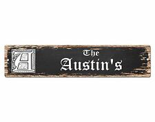 SP0856 The AUSTIN Family name Sign Bar Store Shop Cafe Home Chic Decor Gift