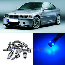 Blue 17pcs Interior LED Light Kit for 1999-2005 BMW E46 M3 318i 323i 325i