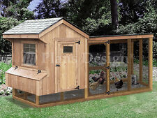 Chicken Coop Plans with Kennel, 4' x 10' Saltbox / Lean-to, Design # 50410SL