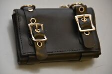 Buckle Strapped Leather Bikers Wallet with Chain Punk Goth & Rockabilly Steam