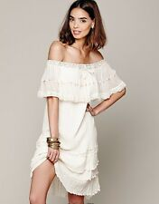 Jen's Pirate Booty for Free People Ivory Athena off Shoulder Dress S! NWT!