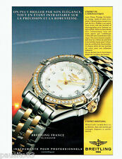 PUBLICITE ADVERTISING 026  1999  Breitling   montre Wings Lady