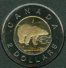 2000-W Proof-Like Twoonie $2 Two Dollar '00 Canada/Canadian Coin Un-Circula A1
