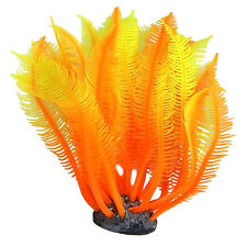 Aquarium Artificial Fake soft Orange Coral Plant Fish Tank Decoration Ornaments