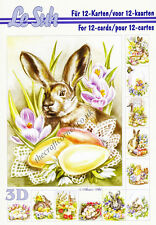Easter Le Suh A5 Book 3D Decoupage Card Making Paper Crafts CUTTING REQUIRED