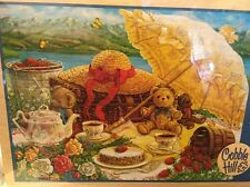NEW, Sealed TEDDY BEAR PICNIC by Cobble Hill 500 Piece Jigsaw Janet Kruskamp