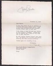 RARE FRANK SINATRA SIGNED 1955 LETTER FULL PSA DNA LETTER