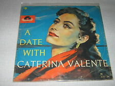 """CATERINA VALENTE 33 TOURS 25CMS 10"""" GERMANY A DATE WITH"""
