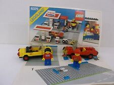 Lego 2 Cars and 2 Figures from kit  #6375 and instruction book no gas station