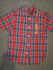 The Children's Place Boys Button-Up Size S 5/6 Red Blue Plaid 50% Off NWT New
