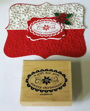 Stampin Up A gift for you...Merry Christmas stamp~use scallop oval punch