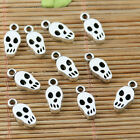 26pcs tibetan silver color skull head charms EF2258