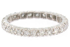 Vintage Platinum 0.80ctw 26 Round Single Cut Diamond Eternity Band Ring Size 7.5