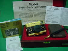 ROLLEI 35 S GOLD 60th ANNIVERSARY MODEL. WOODEN PRESENTATION BOX. RARE. EXC.****