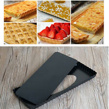 Pie Tart Pan Mold Rectangle Fluted Baking Removable Bottom Nonstick Quiche Tool
