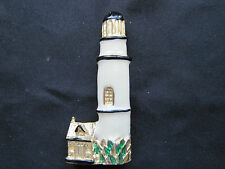 Lighthouse Light Tower White Black Ocean Water Navigation JEWELRY - Brooch Pin