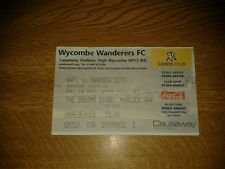 WYCOMBE WANDERERS V SWANSEA CITY USED TICKET 18TH SEPTEMBER 2004 SWANS PROMOTED