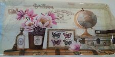 New Floral Butterfly Carte Postale Serving Holding Tray Platter Melamine Rare