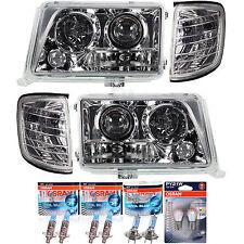 Set Scheinwerfer + Blinker Mercedes E Klasse W124 chrom 93-98 inkl. Osram Lampen