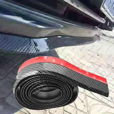 Racing Carbon Fiber Look Front Bumper Lip Splitter Spoiler Skirt Protector Trim