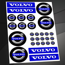 SET 29 Stickers Car Motorsport Auto Helmet Wheel Caps Plate Mirror Key Volvo