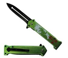 "4.5"" Joker Why So Serious Batman Dark Knight Spring Assisted Knife Green - GN"