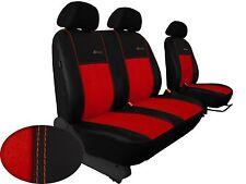Für Renault TRAFIC III  ab 2014 / 1+2 Sitzbezüge in ECO-Leder mit ALCANTARA.