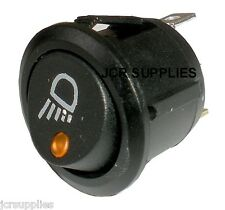 ON-OFF SWITCH AMBER LED DOT ILLUMINATED WITH WORK LAMP SYMBOL 12-24 VOLT 053111