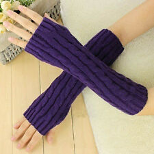 Fashion Women Men's Gloves Arm Warmer Long Fingerless knit Mitten Winter Gloves
