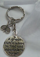 TENNIS COACH COACHING KEYRING GREAT COACH GIFT THANK YOU PRESENT ACCESSORY